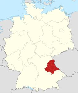 Die Lage der Oberpfalz in Bayern